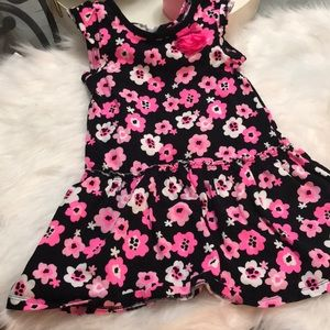 Other - Girls 3t dress/tunic. Black and pink floral